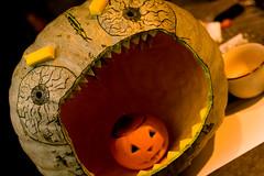 PumpkinParty.032.jpg (Jeremy Caney) Tags: jackolanterns pumpkincarving bigmouth canibal houseparties cannibalism halloween green parties wtf deadbabies pumpkins