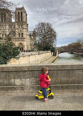 Photo accepted by Stockimo (vanya.bovajo) Tags: stockimo iphonegraphy iphone toddler traveling girl children travelling paris kid child tourism travel childhood vacation holiday scooter notre dame de france life style real people