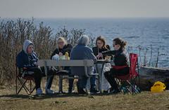 Seaside picnic (frankmh) Tags: people picnic seaside hittarp helsingborg skåne sweden spring