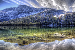 Clouds and Reflections (Rik Tiggelhoven Travel Photography) Tags: tenaya lake yosemite national park np nps service tioga road california usa united states america amerika outdoor nature mountain water reflection reflectie riflessi tree trees sky clouds art landscape landschaft landschap landskap paysage paisagem paisaia paisaje paisaxe serene canon eos 6d fullframe full frame ef24105mmf4lisusm unesco world heritage site hdr rik tiggelhoven travel photography color colors