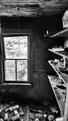 old mother hubbard went to the cupboard... (BillsExplorations) Tags: abandoned decay ruraldecay bare cupboards pantry dark abandonedfarm abandonedfarmhouse abandonedillinois window light forgotten shadow blackandwhite monochrome oldmotherhubbard