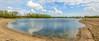 waterline panorama (stevefge (away)) Tags: 2018 beuningen gelderland waaldijk water lakes reflectyourworld reflections chimney trees bomen treeline sand landscape panorama nederland netherlands nl nederlandvandaag uiterwaarden