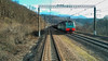 The train drags the cars along the rails (ivan_volchek) Tags: train railway locomotive travel visiting road track traffic steel outdoors industry sky vehicle station guidance window glare railwaycarriage door landscape cloud glass railroad lines