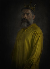 Oppression to color of freedom of expression. (jcalveraphotography) Tags: selfportrait selfie portrait photo photographer projects people picture pictorialism person painting beard bearded studio 365 explore 365days eyes yellow renaissance freedom