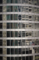One At A Time (michael.veltman) Tags: inland steel view out to city chicago illinois building