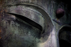 The Eye Of The Kamakura Daibutsu (Great Buddha) (El-Branden Brazil) Tags: japan japanese daibutsu greatbuddha kamakura asia asian buddhism amida amitabha buddhist pureland religion holy sacred