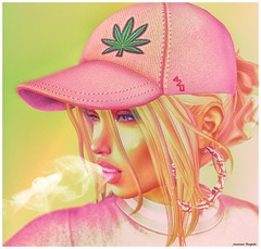 -- Adventures In Ana! -- 420 (AnastasiaBergbahn) Tags: 420 cannabis marijuana weed blunt joint smoke maitreya league catwa adventuresinana legalize secondlife