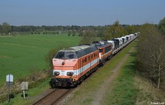 RFO 9802 & 1829, Leusden, 20-4-2018 10:51 (Derquinho) Tags: leusden pon amfpon 1800 9800 jacko fijn techniek rail force one 1 railforce rfs rfo 9802 1829 amersfoort 63100