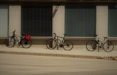 red bag (s i l e n t p i c t u r e s) Tags: bicycles window duplexavenue toronto