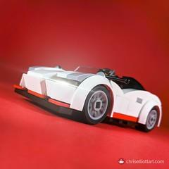 2014 Csikós Iridium (ChrisElliottArt) Tags: csikos csikós iridium sportscar supercar white red black square opentop cabrio targa convertible hypercar lego macro toy vehicle car legos legoes