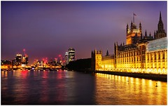 Houses of Parliament by night (Heathcliffe2) Tags: london houses parliament old heritage landmarks night colour skyline colours lights thames