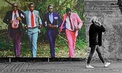 openair gallery (heinzkren) Tags: street streetphotography gallery galerie ausstellung panasonic lumix niederösterreich kultur culture austria baden badenbeiwien baudouinmouanda sapeurs brazzaville festival kunst art streetart colors candid