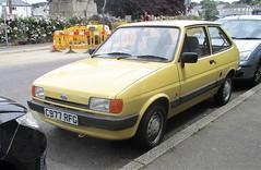1986 Ford Fiesta 1.1L #1 (occama) Tags: c977rfg ford fiesta 11l yellow 1986 old car cornwall uk small