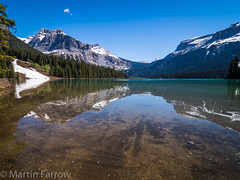 _5227691 (Hyperfocalist) Tags: canada alberta spring rocky mountains emerald lake reflections water still green snow forest trees