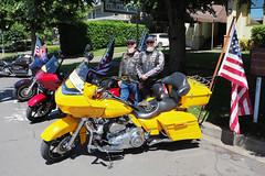 Patriot Guard Riders (PDX Bailey) Tags: motorcycle yellow washington vancouver funeral nice guys flag patriot guard rider bike red bright volunteer usa davidson harley