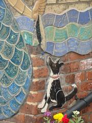 Fish Dog (Glass Horse 2017) Tags: cleveland skinningrove mural ceramic mosaic tiles whitecliffeprimaryschool artist glynisjohnson flood 2000 local community dog border fish mermanshand
