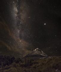 Iliniza Sur Milky Way (Sebastián Rodríguez Ecuador) Tags: review outdoor landscape ecuador ilinizas milkyway vialacteal stars longexposure largaexposicion volcano volcan mountain montaña alpinism sunrise panorama panoramic