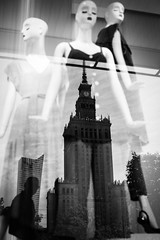 Warsaw Chic 291 365 (ewitsoe) Tags: city ewitsoe spring erikwitsoe streetphotography warsaw reflect reflection canon street window display reflecting palaceofcultureandscience 365project mono monochrome blackandwhite bnw magazine exhibit