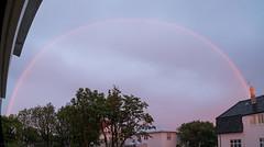 Midnight rainbow, 2 days before summer solstice (olikristinn) Tags: 19062018 2018 hávallagata hávallagata17 iceland june june2018 reykjavik reykjavík vesturbær birta bjartarnætur brightnights heima home midnightrainbow midnightsun miðbær