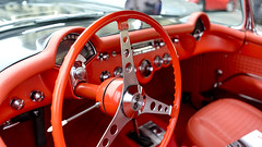 Pure Red (N@cho2008) Tags: corvette 56 paris lether red interior concorde place race traversee 2018