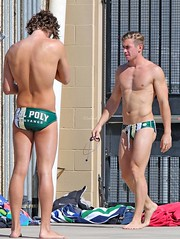 Cal Poly (Leo Tard1) Tags: canon eos 7dmarkii usa ca california sanluisobispo slo waterpolo male outdoor athletic athlete leotard dual 2017 swimmingpool sport water cal poly
