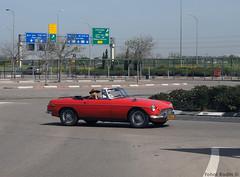 MG MGB (Yohai_Rodin) Tags: classic cars five club car tel aviv מועדון החמש מכונית קלאסית מכוניות קלאסיות הנתיב המהיר הולילנד 1000 holyland tour