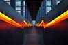 ⚒ (timmytimtim75) Tags: essen zollverein zeche ruhrmuseum stairs staircase light tunnel downstairs lightning orange zigzag colour nrw ruhrgebiet