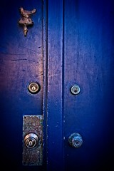 FEELING BLUE (akahawkeyefan) Tags: door locks blue pacificgrove davemeyer