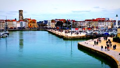 La Rochelle harbor, France (theo gvn) Tags: everyday overview colors tourism landscape france larochelle port sea ocean water harbor boats