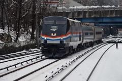 Amtrak Training Train (CrispyBassist) Tags: railroad railway train track transit amtrak bronx hudsonline nyc newyorkcity newyork empireservice locomotive snow