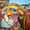 Butlins Psychedelic (Flamenco Sun) Tags: vintage retro cherub weird themepark madonna angel renaissance psychedelic holidaycamp pontins butlins