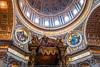 _sain_peter_rome_vatican__747t90055 (isogood) Tags: basilica saintpetersbasilica basilicaofsaintpeter saintpeter church baroque barroco religion religious prayer vatican rome italy bramante michelangelo bernini pope christian renaissance