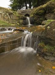 Panniers Pool (l4ts) Tags: landscape derbyshire staffordshire cheshire staffordshiremoorlands peakdistrict darkpeak longexposure threeshireshead pannierspool waterfall bridge