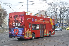 City Sightseeing Budapest PEL-907 (Will Swain) Tags: orczy tér baross kocsiszín budapest 6th january 2018 bus buses transport travel vehicle vehicles county country central capital city centre hungary europe greater london south east uk britain england english lx03buw stagecoach 17764 trident sightseeing pel907 pel 907 group
