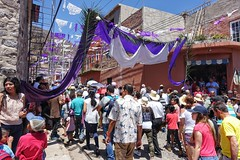 Good Friday (posterboy2007) Tags: ajijic mexico street flags purple passionplay