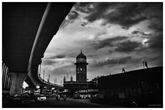 New Vs Old (hardikpshah25) Tags: newvsold mozzamjahimarket hyderabad tower bridge metro india fineart fineartphotography canon canon760d canonindia streetphotography street mono monochrome blackandwhite bnw bw blackwhite blackandwhiteart clouds lonelyplanet natgeo incredibleindia hardikpshah25 copyright