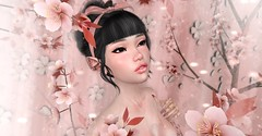 ^^Swallow^^ Ears Contest 2018 - 1. hope4poe (Kuroba3D) Tags: swallow ears contest 3d digital virtual photography art secondlife girl people avatar pink kawaii sakura cherry blossom flower spring april 2018 easter
