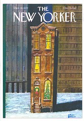 31 miraclemaker (Rocky's Postcards) Tags: brownstone christmas newyorker magazine charlesaddams cover 1977 december19 building postcard miraclemaker