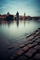 河边晨景,布拉格 (BestCityscape) Tags: 布拉格 捷克共和国 建筑 旅行 prague czech republic architecture europe travel square castle 教堂 cathedral