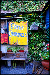 Buenos Aires (makingacross) Tags: buenos aires argentina buenosaires city la boca laboca barrio colour colourful patio quinquela patioquinquela bench nikon d3000