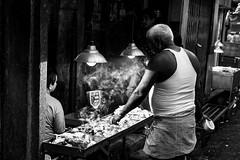 Shopping at the Local Butcher's (anthonypond) Tags: 50mmsummilux kolkata bw leicam10 calcutta india