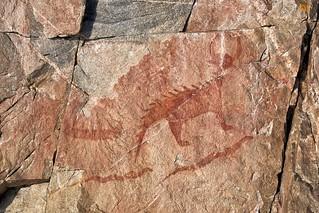 agawa rock / agawa pictographs