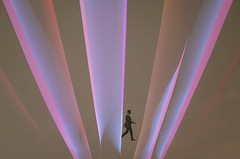LED glow light (heinzkren) Tags: colors composing man lights stripes led licht fantasy vision abstract future design ricoh grii
