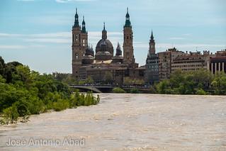 Riada 2018. El Pilar desde el puente de la Almozara. Zaragoza