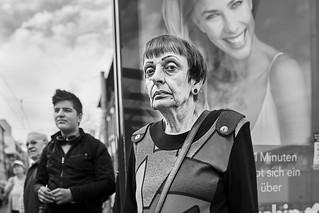 Mannheim Street Frau 512 b&w