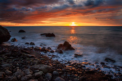Sunset at Palliser Bay (Jos Buurmans) Tags: bay capepalliser coastallandscape coastline evening landscape nature newzealand ngawi northisland palliserbay seascape southwairarapa sunset wairarapa wellington nz