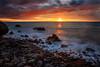 Sunset at Palliser Bay (Jos Buurmans) Tags: bay capepalliser coastallandscape coastline evening landscape nature newzealand ngawi northisland palliserbay seascape southwairarapa sunset wairarapa wellington nz