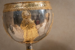 Chalice from the Attarouthi treasure (Nick in exsilio) Tags: newyork unitedstates us chalice cup eucharist byzantine late antiquity syria greek inscription