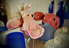 The Hiding Bear (BKHagar *Kim*) Tags: bkhagar bear teddybear francie pink fuzzy easterbunny bunnyears toy chair retro midcenturymodern plastic