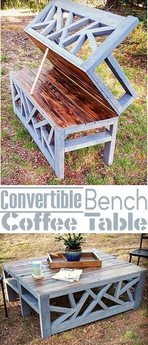 Diy Furniture : How To- Build an Outdoor Bench that Converts into a Coffee Tablehttps://is.gd/5wcJmf